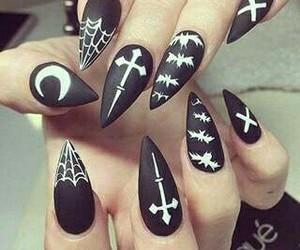 black, nails, and diy image