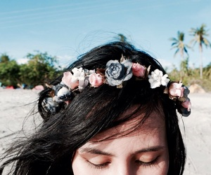 adventure, bohemian, and flower crown image