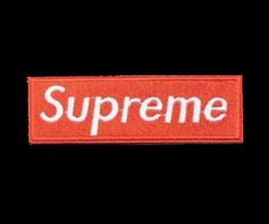 supreme, red, and wallpaper image
