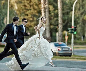 bride, style, and love image