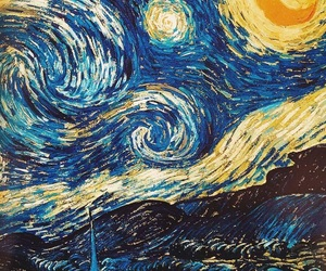 van gogh, wallpaper, and la noche estrellada image