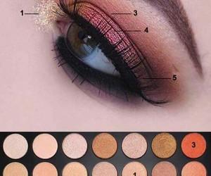 eye, eyeshadow, and makeup image
