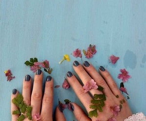 flowers, hands, and aesthetic image
