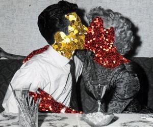 love, couple, and retro image