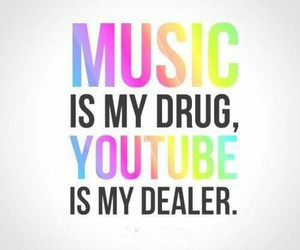 music, youtube, and quotes image