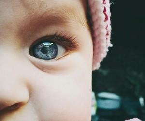 eye, baby, and beautiful image