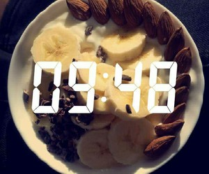 almonds, breakfast, and healthy image