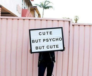 english, cute but psycho, and but cute image
