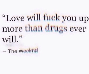 words, love, and weeknd image