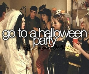 Halloween, bucket list, and party image