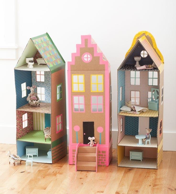 cardboard, diy, and dollhouse image