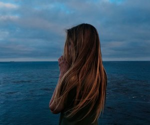 blue, girl, and long hair image