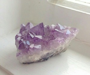 beautiful, crystal, and purple image