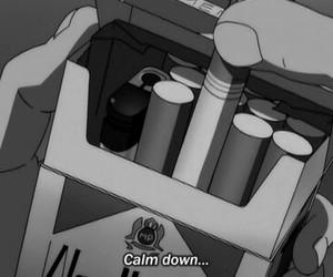 cigarette, smoke, and anime image
