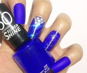 blue nails, fashion, and girl image