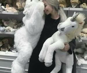 girl, unicorn, and tumblr image
