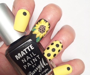 nails, fashion, and flower image