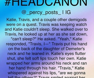 percy jackson, travis stoll, and tratie image
