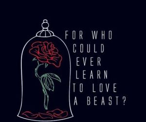 beauty and the beast, disney, and rose image