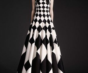 b&w, gown, and harlequin insired image