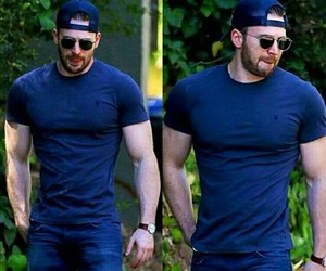 chris evans, handsome, and Hot image