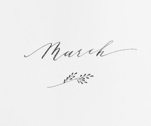 black and white, march, and spring image