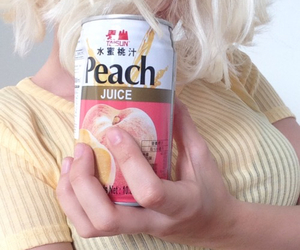 peach, aesthetic, and yellow image