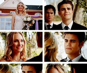 wedding, caroline forbes, and steroline image