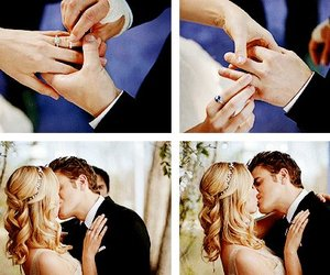 kiss, wedding, and the vampire diaries image