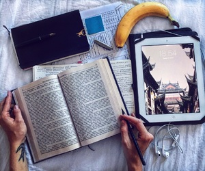 arms, banana, and book image