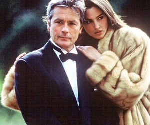 Alain Delon and monica bellucci image