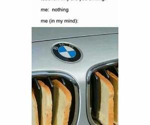 bmw, car, and food image