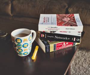 books, coffee, and indie image