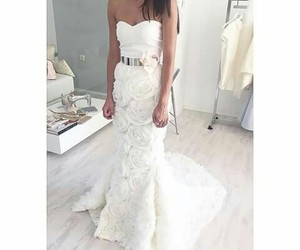 dress, white, and bride image