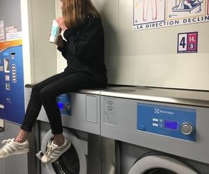 cool, washing machine, and girl image