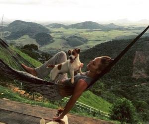 dog, nature, and animal image