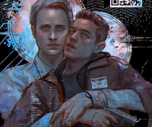 elliot, mr robot, and tyrell image