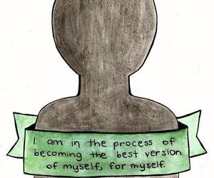 quote, drawing, and myself image