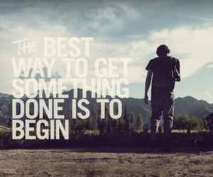 quote, life, and begin image