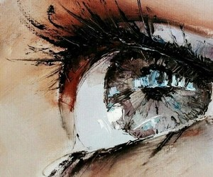 eye and painting image