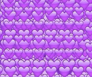 heart, purple, and wallpaper image