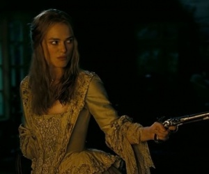 elizabeth swann, caraibes, and pirates of the carribbean image