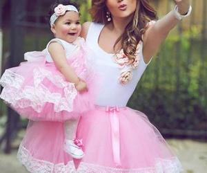 baby, mom, and pink image