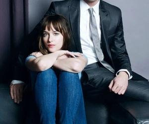 fifty shades of grey, dakota johnson, and christian grey image
