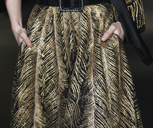 fashion, gold, and runway image
