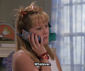 whatever, quotes, and lizzie mcguire image