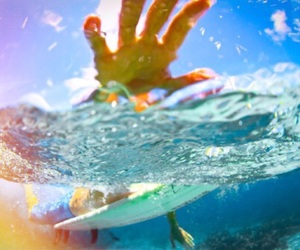 aqua, bokeh, and surf image