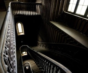 stairs, dark, and architecture image