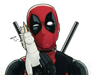 deadpool, Marvel, and unicorn image