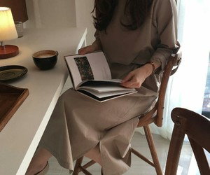 art, cafe, and dress image